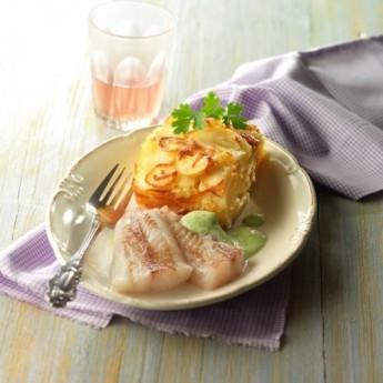 Abadejo amb julivert i gratinat de patata