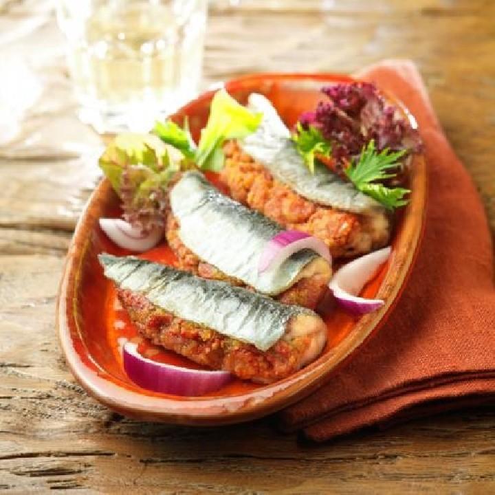 Sardines farcides de pebrot