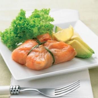 Atadillo de tartare de salmón