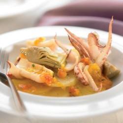 Suquet de calamar i carxofa
