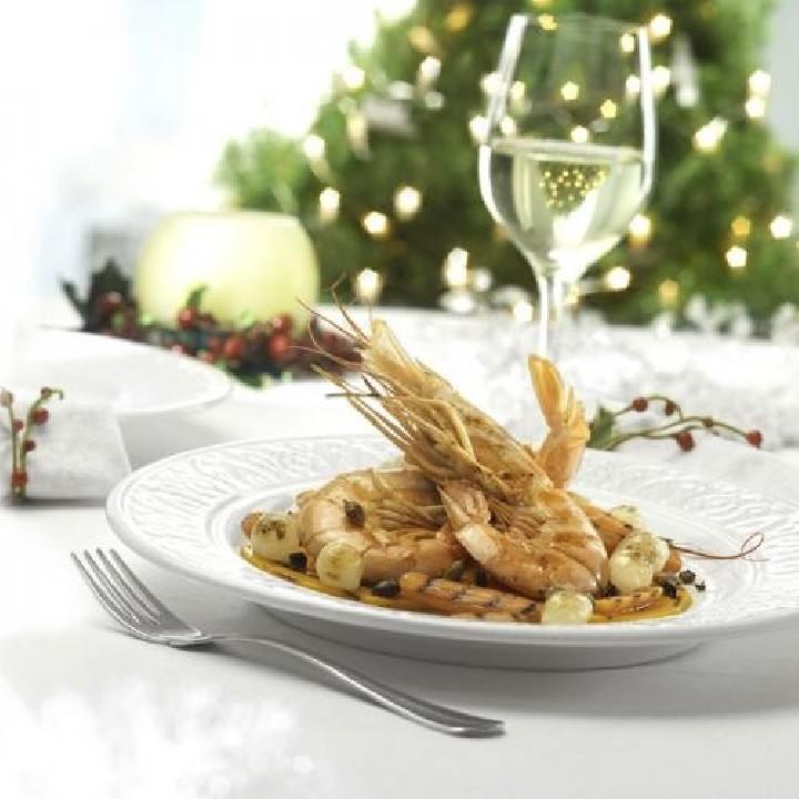 Gambones australes y verduras plancha con trufa