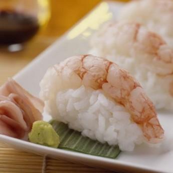 Nigiri sushi de gamba