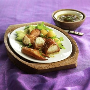 Ensalada de bogavante, aguacate y melon