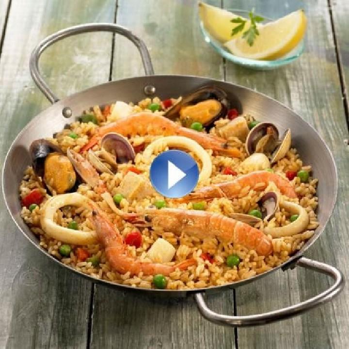 Paella de pescado