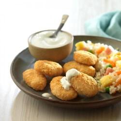 Nuggets de pollastre amb salsa de iogurt