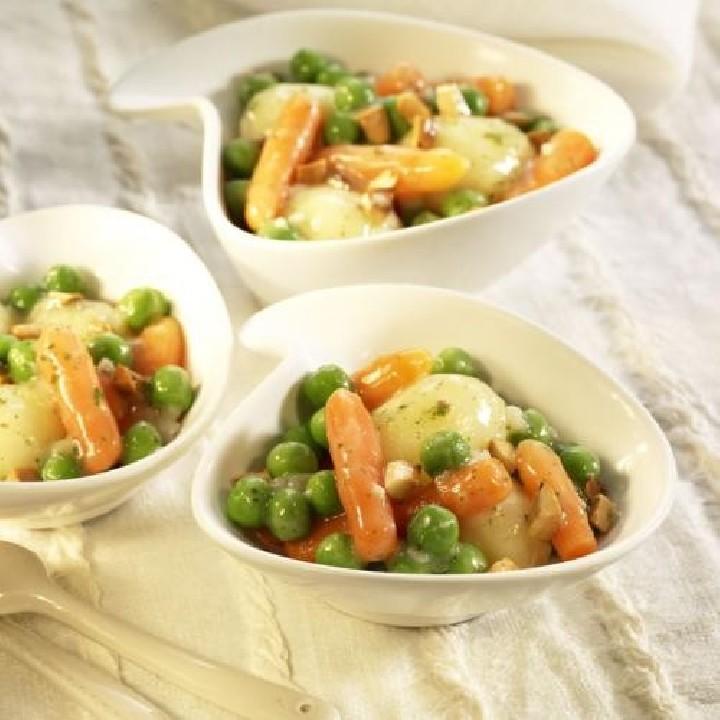 Guisadet de verdures amb ametlles
