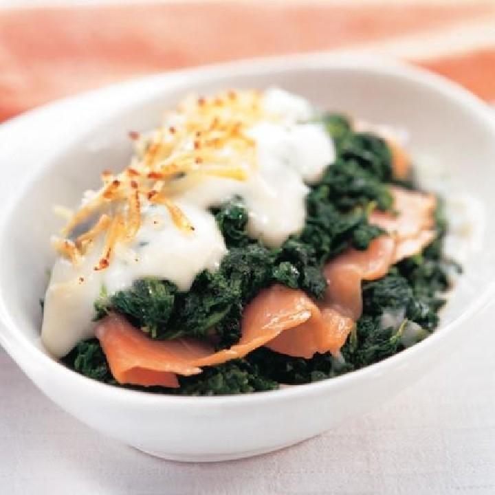 Espinacs amb salmó