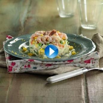 Ensaladilla de camarones y atún