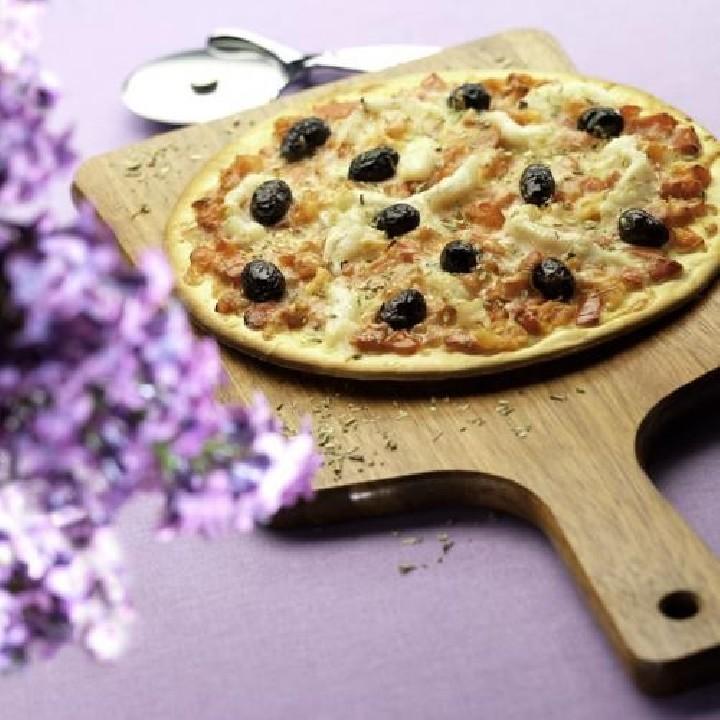 Pizza de bacallà