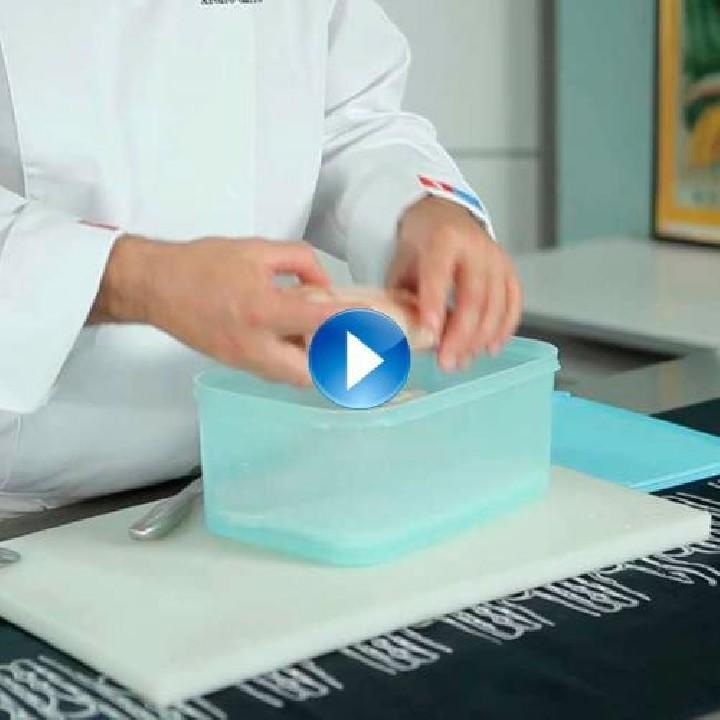 ¿Cómo descongelar el pescado y productos con glaseo?