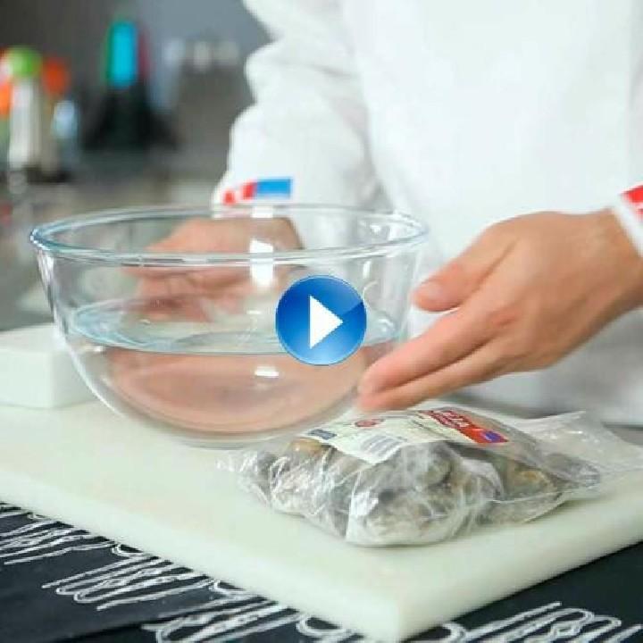 ¿Cómo descongelar almejas, navajas y berberechos?