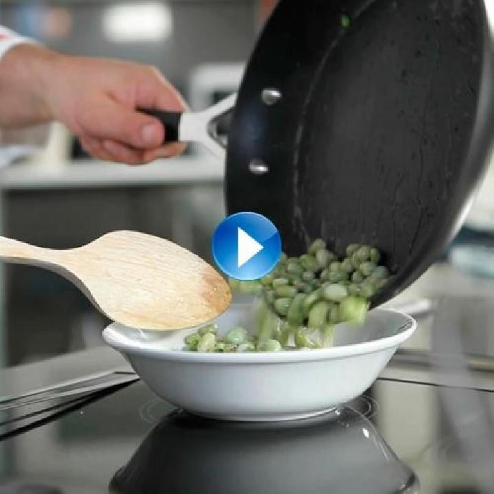 Cómo saltear o rehogar hortalizas y verduras congeladas.