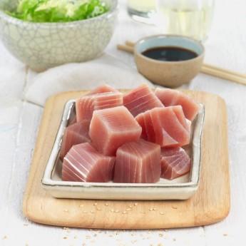 Tacos de atún de aleta amarilla