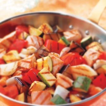 Braseado de verduras con pollo