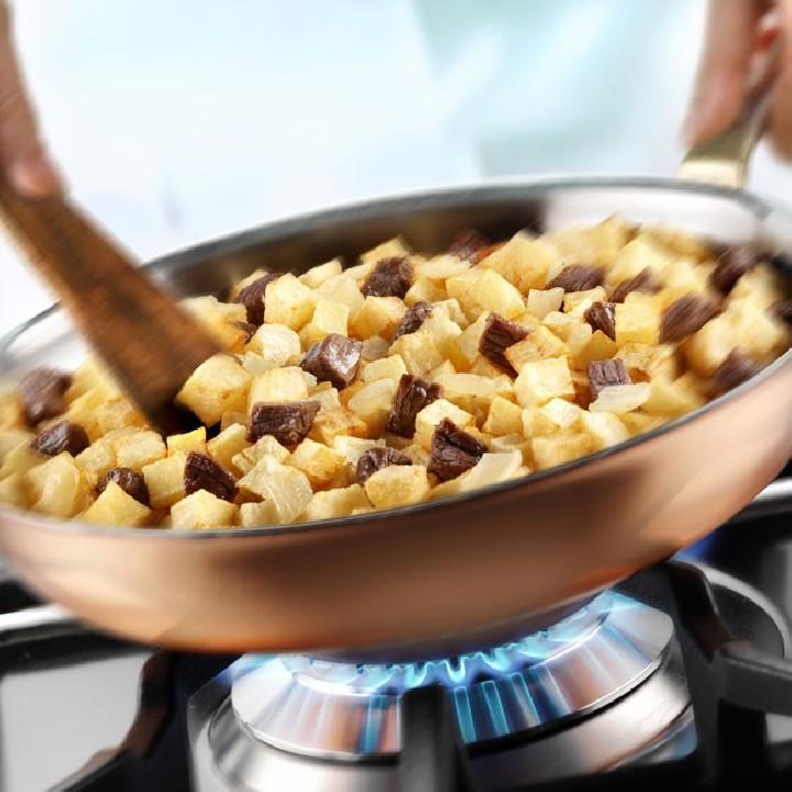Salteado de ternera y patatas