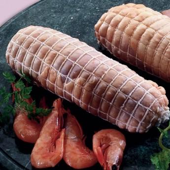 Mini redondos pollo relleno de langostinos
