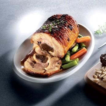 Pollo asado relleno ciruelas/piñones