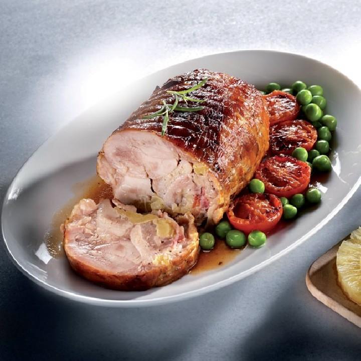 Pollo asado relleno beicon/piña