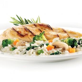 Pollastre amb arròs i verdures