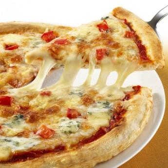 Pizza micro 4 quesos