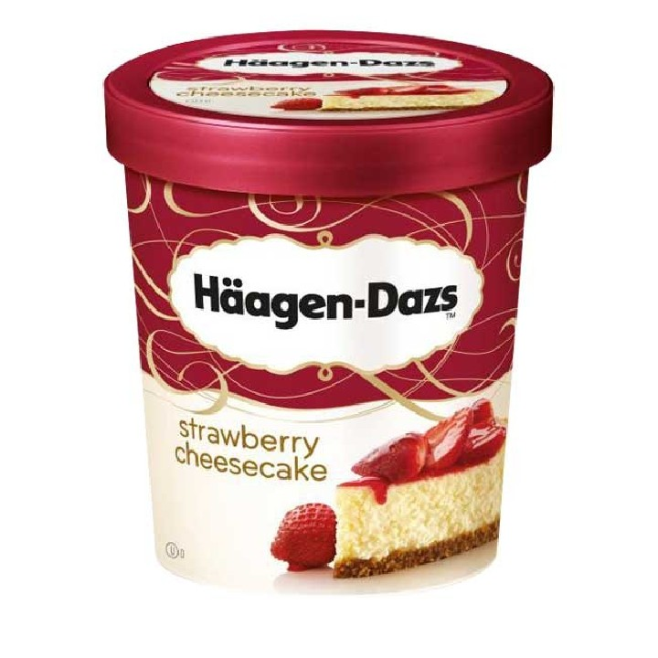 Tarrinas strawberry cheesecake Häagen Dazs