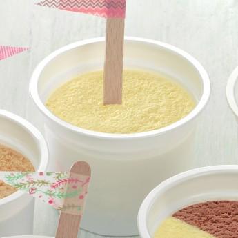 Vasito helado de vainilla