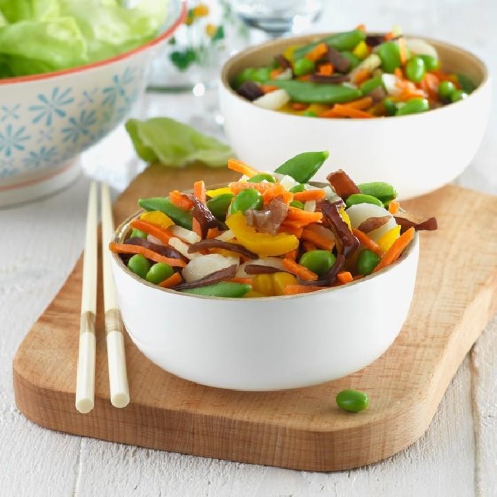 Verduras para wok oriental