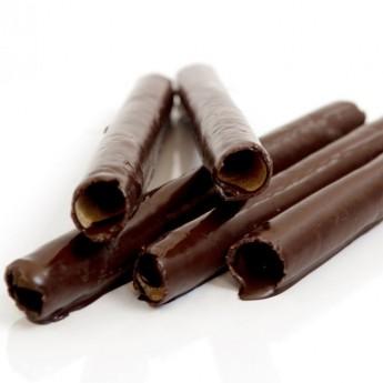 Barquillos de chocolate sin gluten