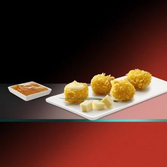 Cruixent de gouda amb melmelada d'albercoc Premium