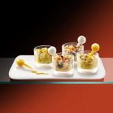 Tartare langostino con mango y salmón Premium