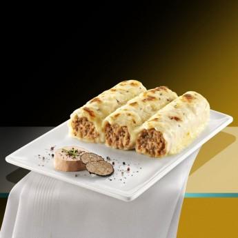Canelons de foie i tòfona amb beixamel Premium