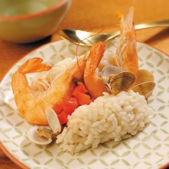 Arròs amb llagostins i escopinyes