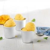 Helado sorbete de mango