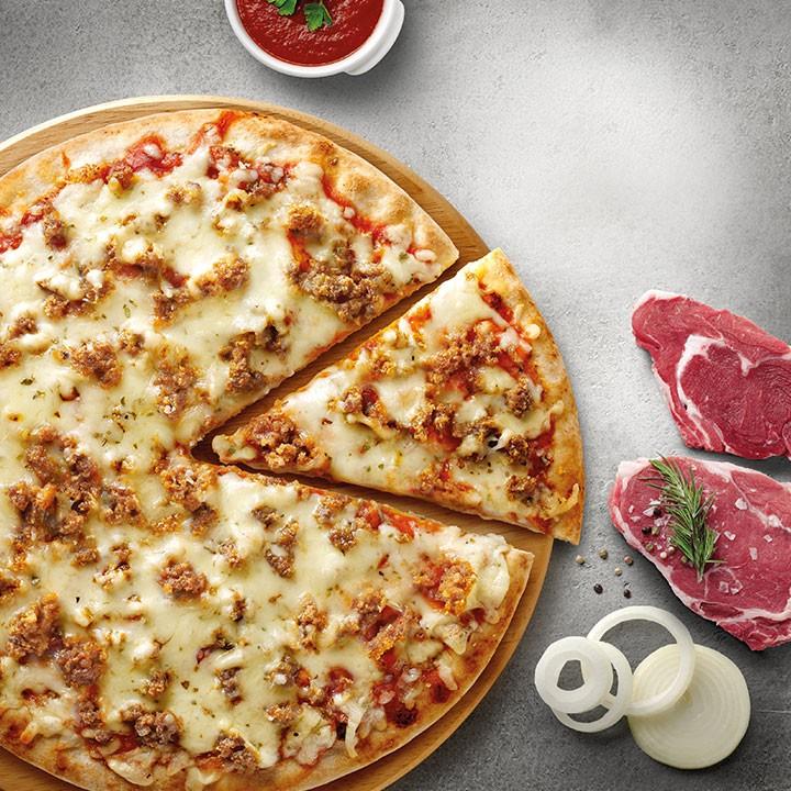 Pizza horno piedra boloñesa