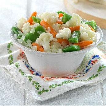 Judia,zanahoria,coliflor y cebolla