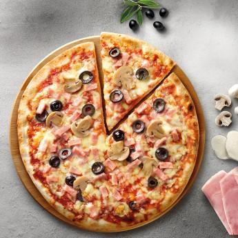 Pizza horno de piedra capricciosa