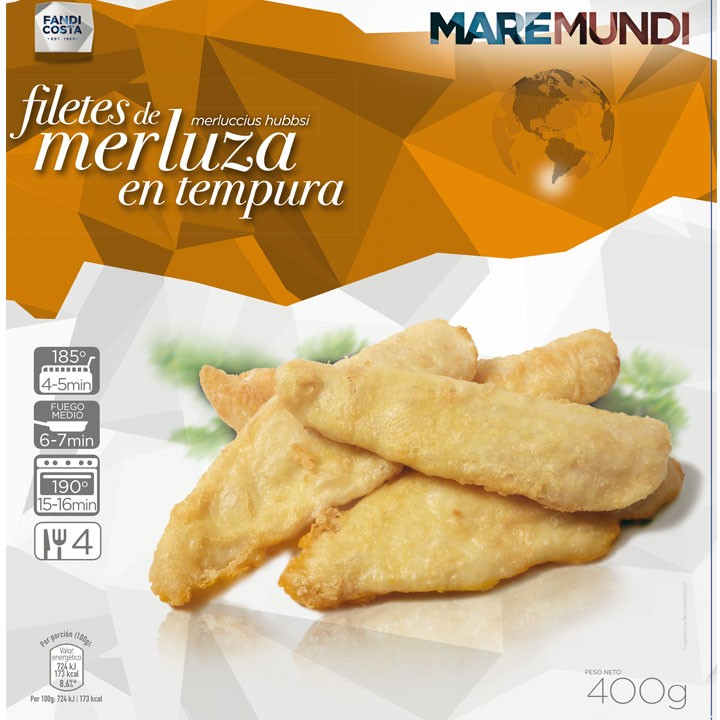 Filetes de merluza en tempura