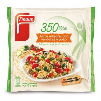 Arroz integral con verduras y pollo Findus