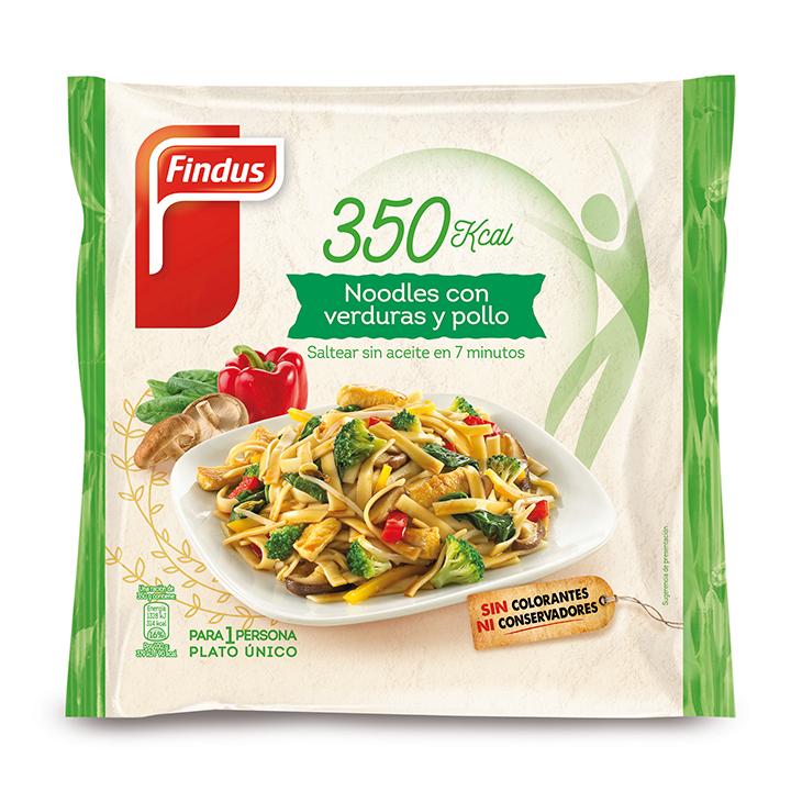 Noodles con verduras y pollo Findus