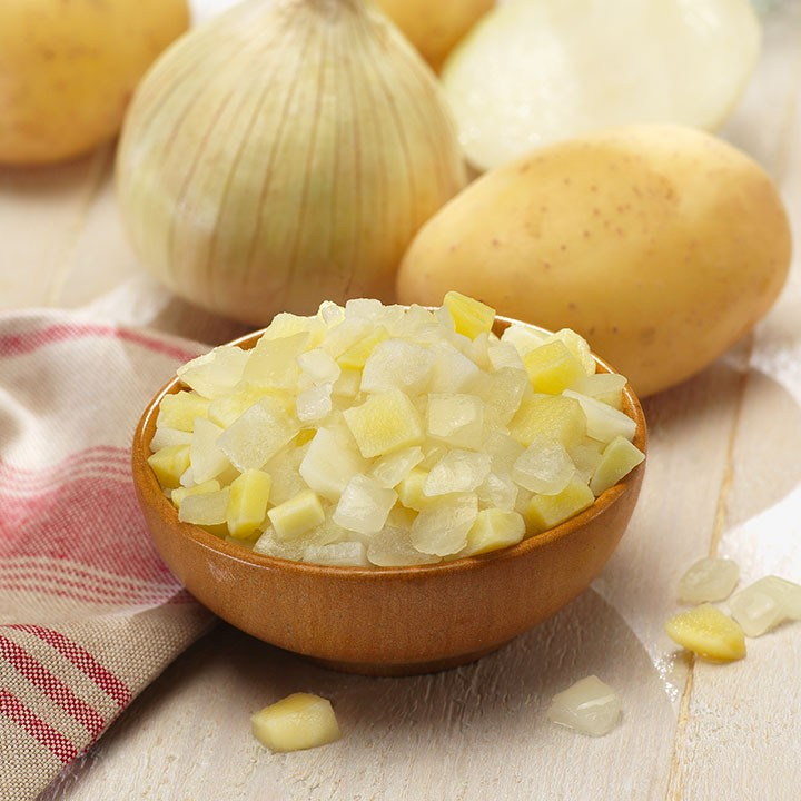 Preparado de patata y cebolla