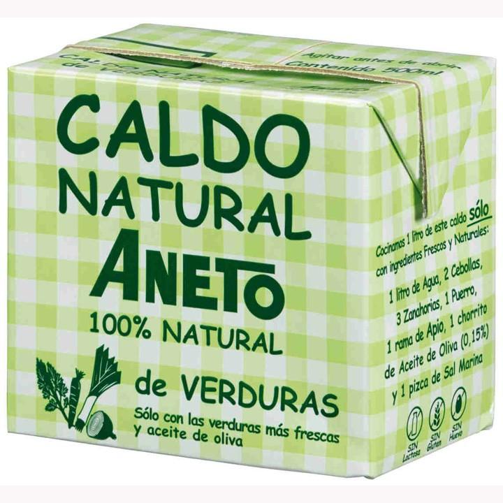 Caldo natural de verduras Aneto