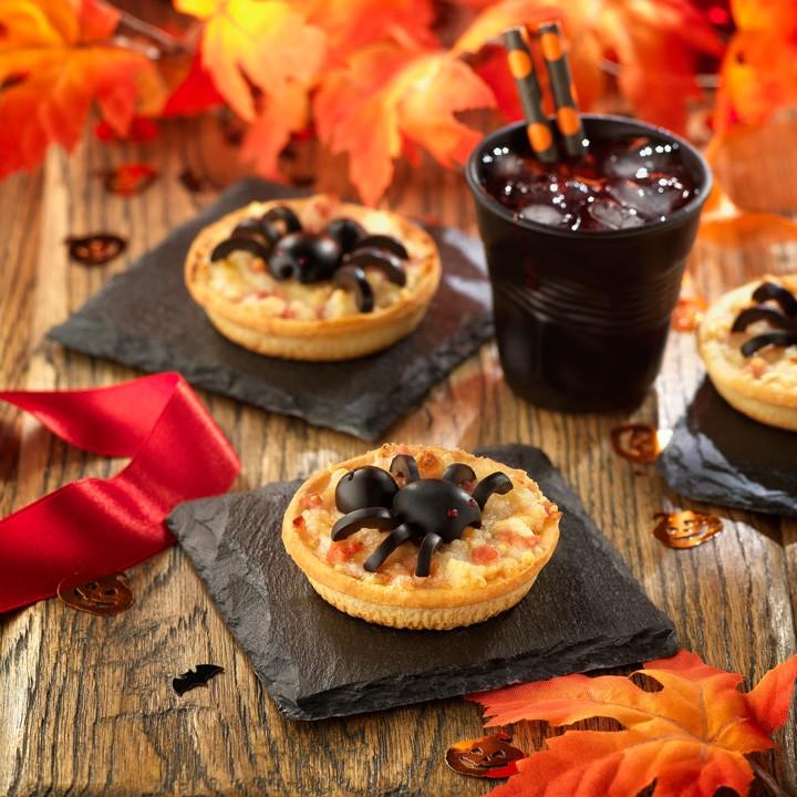 Pizzicato aràcnid (recepta per a Halloween)