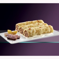 Canelones pato con manzana y foie con bechamel