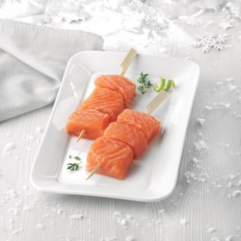 Brochetas de salmón Premium