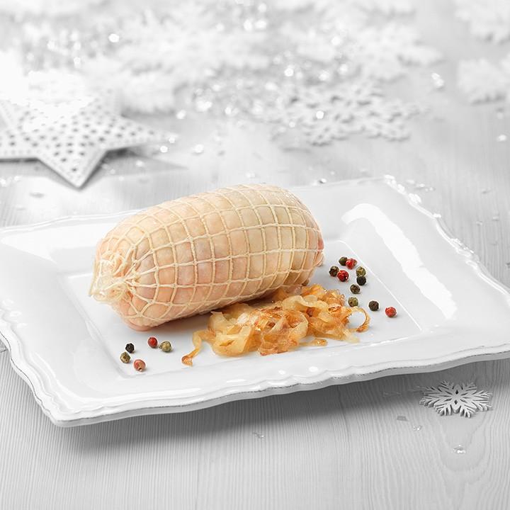 Mini rodó pollastre farcit ceba caramelitzada