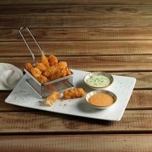 Fingers de halibut dos salsas
