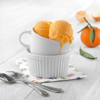 Helado sorbete de mandarina