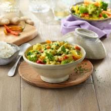 Curri de verdures amb llet de coco