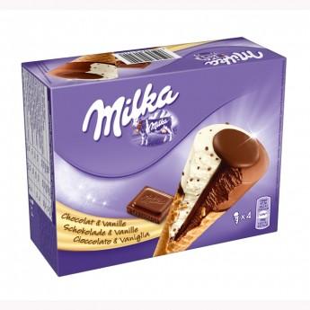Conos Milka vainilla chocolate Nestlé