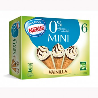Mini conos vainilla 0% Nestlé